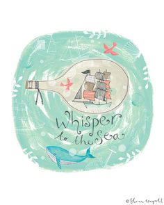"""Whisper to the Sea 8 x 10"""" giclee print by Flora Waycott"""
