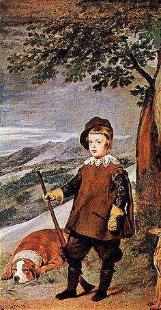 """Diego Rodriguez de Silva Velazquez: Príncipe Carlos """"el cazador."""""""