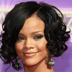 short and curly rihanna - Google Search