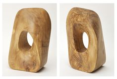 "Escultura ""MOEBIUS"". Madera de Olivo, 21x14x10 cm. Autor: Luis Clúa."