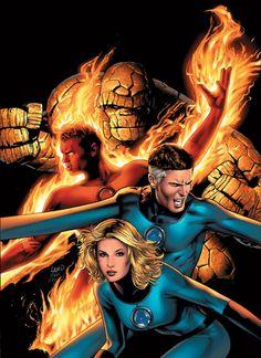 Fantastic Four (Marvel Knights). Hq Marvel, Marvel Comics Art, Marvel Heroes, Mundo Marvel, Lego Marvel, Marvel Cinematic, Stan Lee, Fantastic Four Marvel, Mister Fantastic