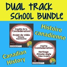 Canadian Confederation Video Project (Bilingual Bundle) - perfect for dual track immersion schools. This project for French Immersion in Canada & standard English language History & Drama classes uses inquiry learning in a rich task to encourage students to explore the connection between a topic of interest to them and Canadian Confederation.