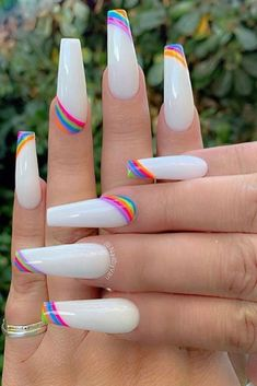 Simple Acrylic Nails, Fall Acrylic Nails, Acrylic Nail Designs, Simple Nails, Nail Art Designs, Pastel Nails, Bright Summer Acrylic Nails, Colorful Nail Designs, Stylish Nails