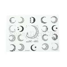 moon phases tattoo design - Google Search