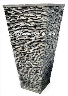 Tall pebble pot