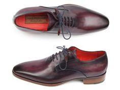 Paul Parkman Men's Plain Toe Oxfords Purple Shoes