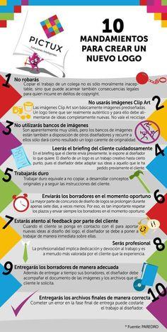 10 mandamientos para crear un logo #infografia #infographic #design #marketing via ticsyformacion.com
