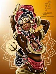 Lebara by Oradine Black Women Art, Black Art, Goddess Art, Man And Dog, Orisha, Afro Art, Deviantart, African Art, Female Art