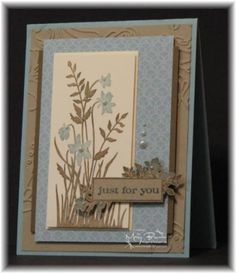 Stampin Up - Just Believe. Pretty and simple card. by pebblesmom