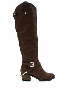 Buckled Equestrian Accent Boots