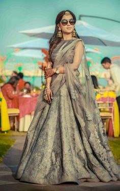 Light Lehenga Designs for Bride & Bridesmaid - Fashion Indian Attire, Indian Ethnic Wear, Indian Style, Indian Wedding Outfits, Indian Outfits, Indian Weddings, Bridal Outfits, Saris, Ethnic Fashion