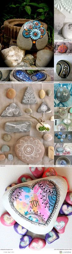 Crafty Craft_Crafts stones  Awesome to do with kids or by self. Can be used inside or outside and a great gift idea:)