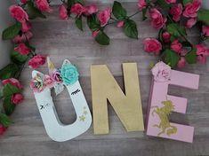 One Unicorn Birthday Prop One Letter Birthday Set Stand Up