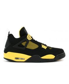 51abe2dcc531 Air Jordan 4 Retro Ls Thunder Black Tour Yellow White 314254 071