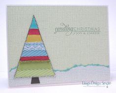 Cute Christmas card idea with ribbon