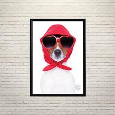 Арт плакат Собака в тренде