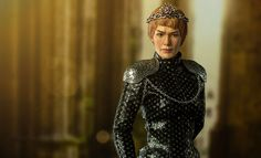 Game of Thrones Cersei Lannister Sixth Scale Figure by Three Cersei Lannister, Game Of Thrones Collectibles, Game Of Thrones Cersei, Pauldron, Walter White, Lena Headey, Sideshow Collectibles, Arya Stark, High Neck Dress