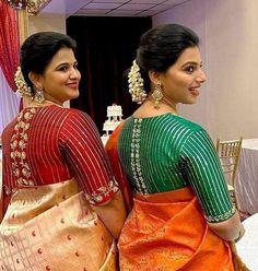 Pattu Saree Blouse Designs, Fancy Blouse Designs, Bridal Blouse Designs, Blouse Neck Designs, Blouse Patterns, Cutwork Blouse Designs, Sari Blouse, Wedding Ceremony Ideas, Hand Work Blouse Design