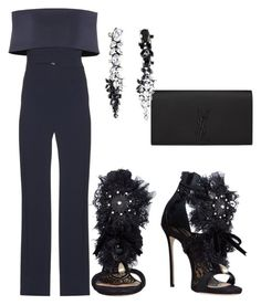 """Untitled #201"" by sandovallorena on Polyvore featuring Galvan, Dsquared2, Yves Saint Laurent and Iosselliani"