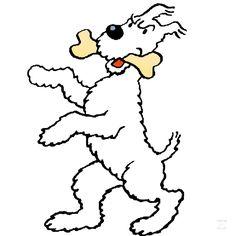 1976 – Le Grand Milou ! • The little big Snowy !  Illustration tirée de la carte de vœux des Studios Hergé pour l'année 1977 (bloc-feuillet dit de « faux timbres »), puis reprise à l'occasion de la promotion publicitaire « Tintimbres » de la « Samaritaine » en 1979. #tintin #herge #milou