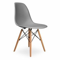 Eames Inspired Cool Grey DSW Style Chair   Eames Inspired From Only Home UK