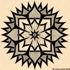 little spiky mandala. use a ruler and a compass to draw guiding lines. create the dark outlines with a black indian ink fineliner (e. Faber-Castell Eccopigment or Pitt Artist Pen in XS black) Mandala Art, Mandala Design, Zen Doodle, Doodle Art, Coloring Books, Coloring Pages, Enchanted, Op Art, Sacred Geometry