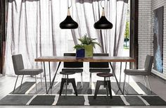 Dark Grey Modern Linen Panel Drapery Image