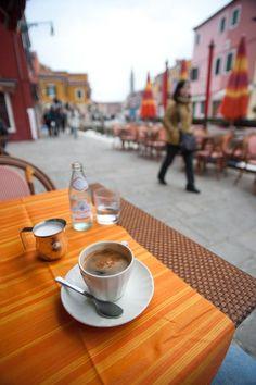 Cafe in Burano, Venice, Italy