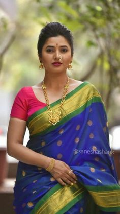 Beautiful Arab Women, Beautiful Girl Indian, Most Beautiful Indian Actress, Beautiful Saree, Beautiful Actresses, Marathi Saree, Marathi Bride, Marathi Wedding, Indian Beauty Saree