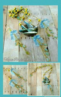 Spring is here! 3/15/16 Bsue brass stampings, Lumiere paints, and spectra beads.