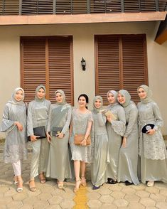 how to put outfits together Dress Brukat, Hijab Dress Party, Hijab Style Dress, The Dress, Kebaya Modern Hijab, Kebaya Hijab, Kebaya Dress, Model Kebaya Modern, Kebaya Wedding
