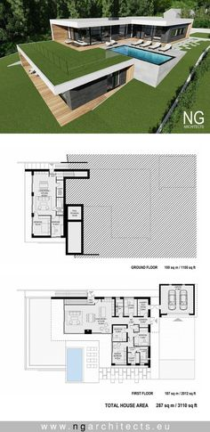 modern house plan villa Bjared desgned by NG architects www.ngarchitects.eu