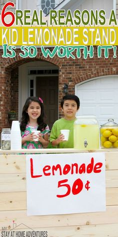 Even today we encourage parents to have a kid lemonade stand and for good reasons. A lemonade stand for kids is good for them and you can learn why here. Make Money Online Surveys, Ways To Earn Money, How To Make Money, Kids Lemonade Stands, We Can Do It, Money Quotes, Summer Fun, Summer School, Preschool Crafts