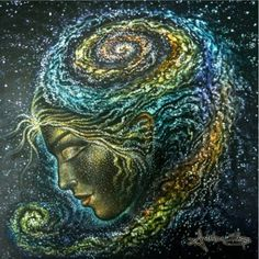 """Don't simply brush away the inexplicable connectedness we'll occasionally taste as we experience certain people, places and works of art. These mere seconds of quite synchronicity and understanding count. They always, always count. You just have to know and believe it. ~Victoria Erickson -art 'Galaxia' by Amanda Sage"