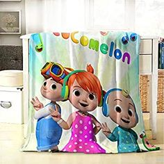 """Perfect for your Baby and Nursery BEEPBOOP Kids Blanket Super Soft and Warm Plush Blankets Cute Dog and Baby Printed, Children Blankets for Couch Or Bed,BEEPBOOP Kids Blanket Super Soft and Warm Plush Blankets Cute Dog and Baby Printed, Children Blankets for Couch Or Bed, Size & Material: 50""""X40"""" (102x127cm). Made Of Pilling-Proof Fleece, It Is More Comfortable And Warm. Enjoy The Soft Touch,..."""