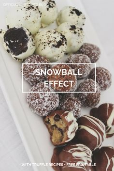 DAY 10: Share the love of Christmas in a new tradition of sweet, yummy giving. Lots of 'snowball' recipes and a free printable. (The Snowball Effect)