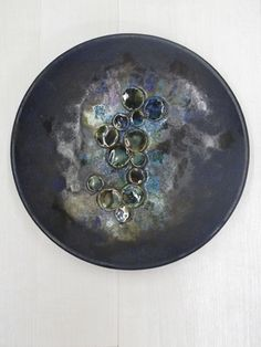 Keramieken wandbord / Ceramic wall bowl 13689