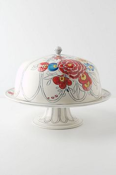 peony portrait domed cake stand [anthropologie]