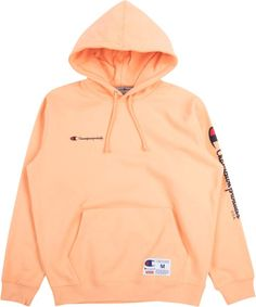 Supreme Champion Hooded Sweatshirt - Peach Champion Hooded Sweatshirt, Pullover Hoodie, Hoodie Sweatshirts, Sweater Hoodie, Supreme Hoodie, Men's Hoodies, Womans Hoodies, Champion Sweatshirt Vintage, Champion Hoodie Women