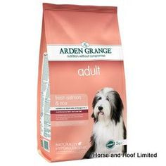 Arden Grange Salmon Rice Adult Dog Food 2kg Arden Grange Salmon Rice Adult Dog Food is a suitable diet for dogs that need to boost their skin  coat condition whilst still getting the right amount of proteins.