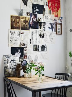 Eating corner//collage wall
