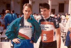 Greg Lemond and Gianni Bugno before they both became champs....