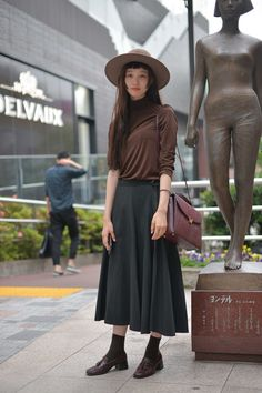 Street Style of Tokyo: Dressed head to toe in vintage | Fashionsnap.com