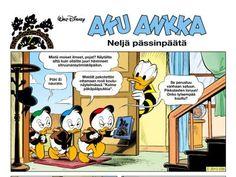 Tupu Hupu ja Lupu: Neljä pässinpäätä Peanuts Comics, Comic Books, Cover, Disney, Comic Book, Blanket, Disney Art, Comics, Comic