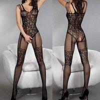 Specifications: 100% Brand New and High quality! Style: Sexy body stocking Material: Nylon Color: Bl