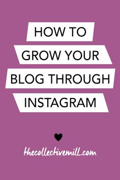 How to Grow Your Blog Through Instagram: Instagram is a great tool to use in order to grow your blog. It allows you to connect with other people within your niche, build your authority, and promote new products. Plus, it's free! So why not take advantage