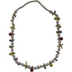 Fruit Salad White Plastic Bead Necklace