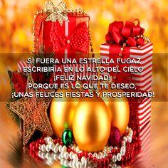 Imagen con mensaje de navidad