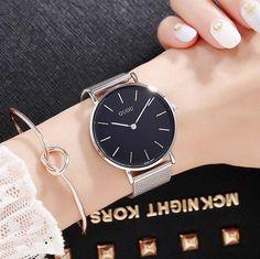 Mens Top Brand Luxury Fashion Watch Men Ultra Thin Gold Steel Mesh Watches Women Dress Quartz Lovers Watch orologio uomo