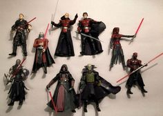 Hasbro Star Wars LOOSE LOT SEVENTEEN Sith & Jedi Action Figures #Hasbro